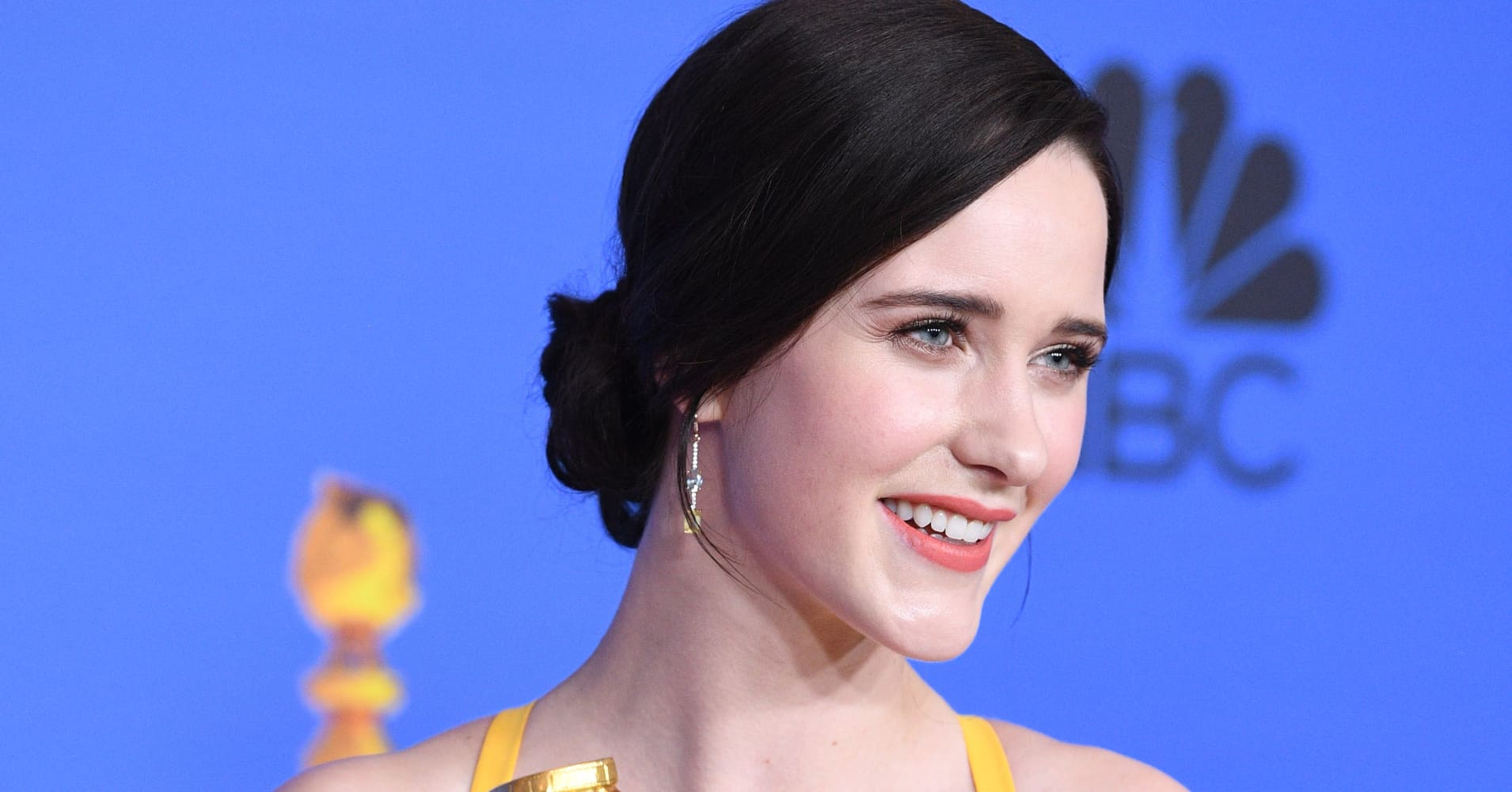 Rachel Brosnahan, winner of Best Performance by an Actress in a Television Series Musical or Comedy for 'The Marvelous Mrs. Maisel'