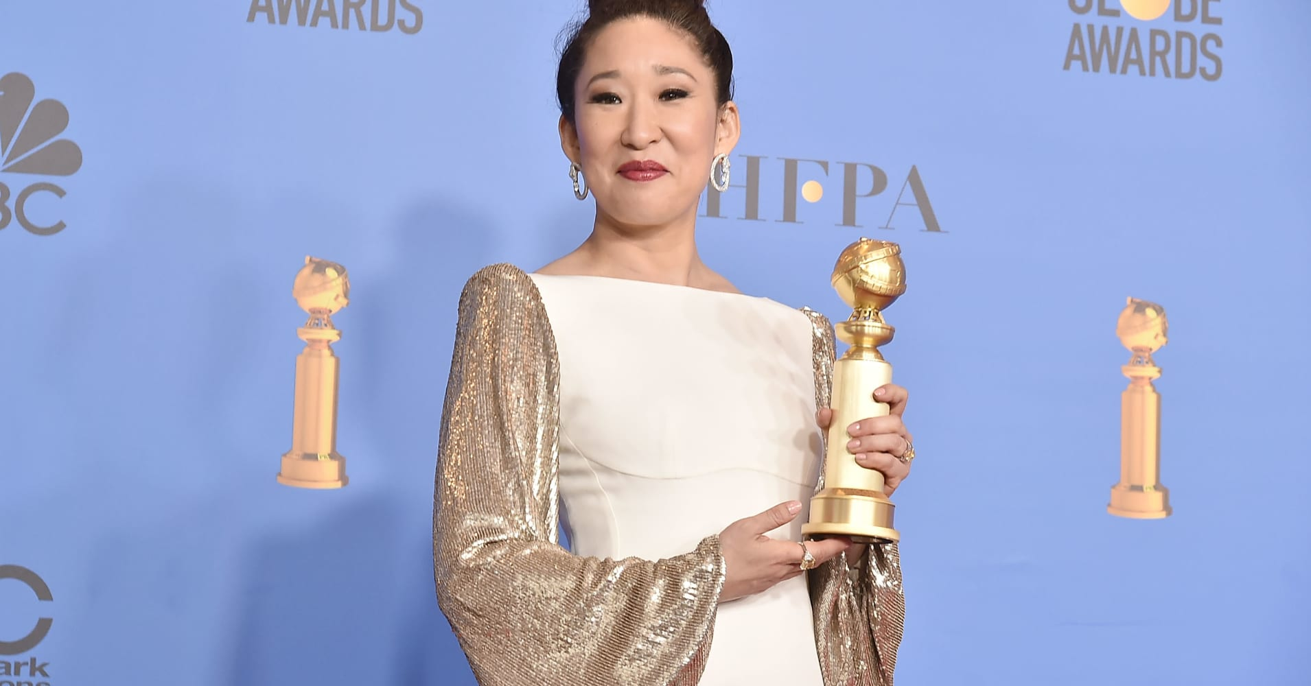 Sandra Oh attends the 76th Annual Golden Globe Awards - Press Room at The Beverly Hilton Hotel on January 6, 2019 in Beverly Hills, California.