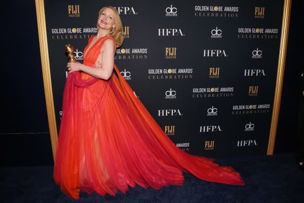Patricia Clarkson attends FIJI Water at the 76th Annual Golden Globe Awards Celebration.