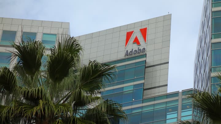 Adobe shares up after earnings, but company posts light guidance