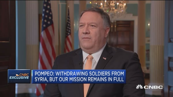 Pompeo: Want Iranian people to be able to control their own leadership