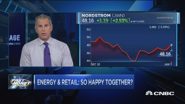 Energy and retail are rallying together, but can the lovefest last?