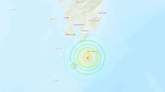 A 6.4 magnitude earthquake stuck off south Japan on Jan. 8th, 2019.