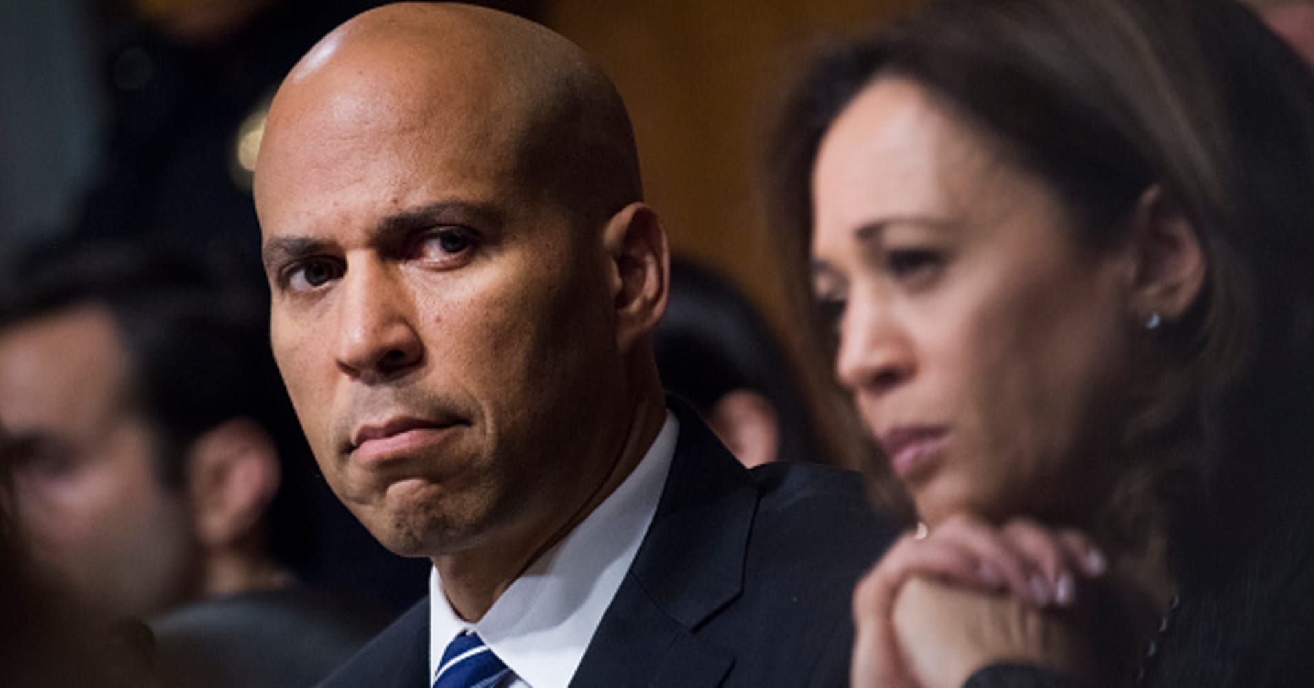 Cory Booker, Kamala Harris talk to Wall Street about possible 2020 campaign
