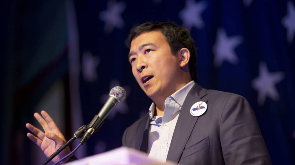 Presidential candidate Andrew Yang is giving this New Hampshire mom $1,000 a month to show U.B.I. works