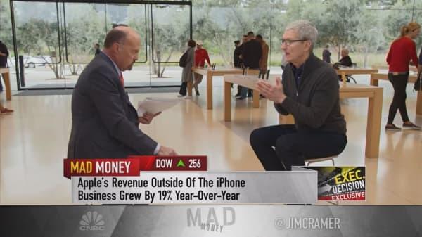 Apple's wearables revenue already exceeding peak iPod sales, Tim Cook says