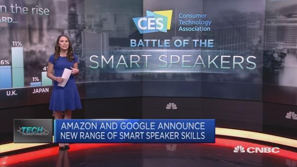 Amazon, Google battle for smart speaker dominance at CES 2019