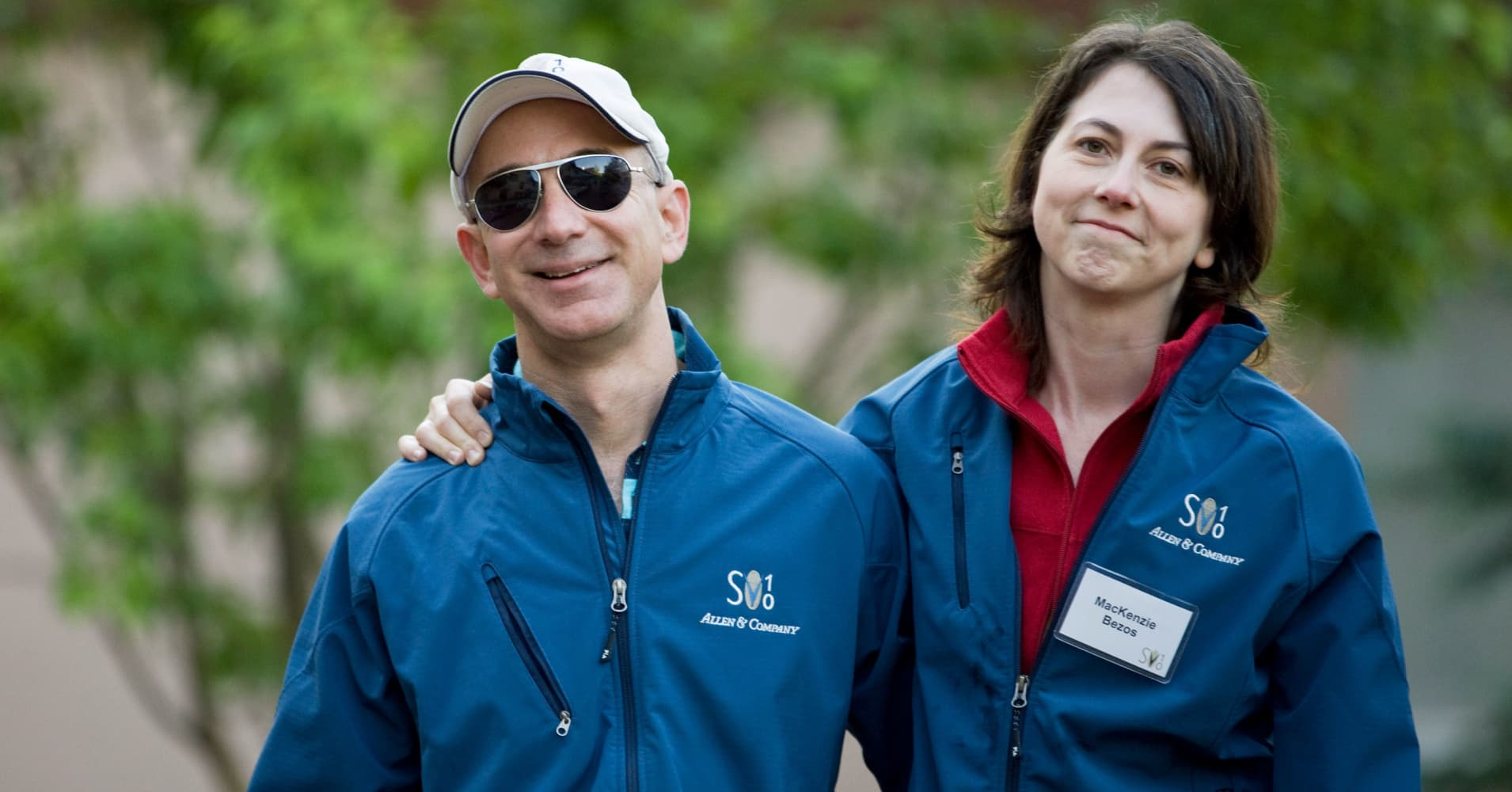 Jeff and MacKenzie Bezos  at the Allen & Co. Media and Technology Conference in Sun Valley, Idaho,  July 10, 2010.