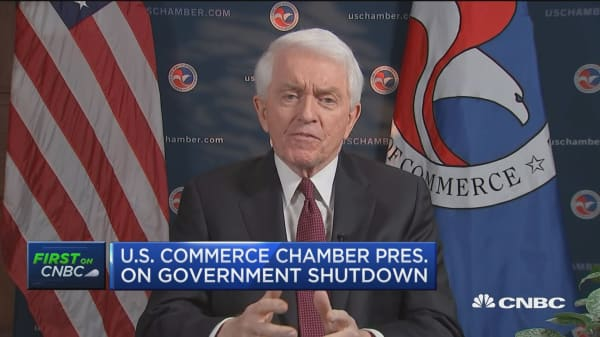 U.S Chamber of Commerce President: It's time to make a deal on the shutdown