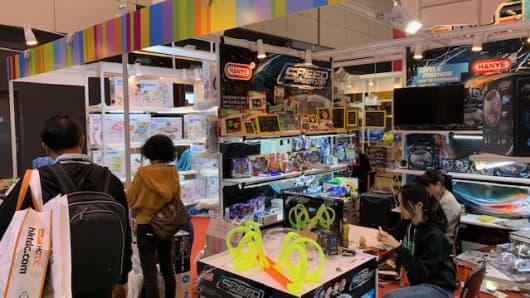 A stall at the Hong Kong Toys & Games Fair on Jan. 10, 2019.