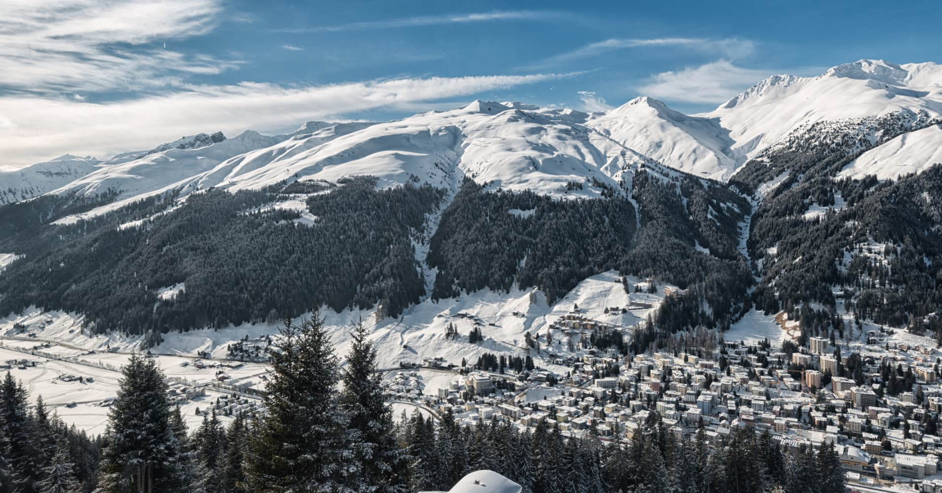 This is the famous town Davos in Switzerland in winter.