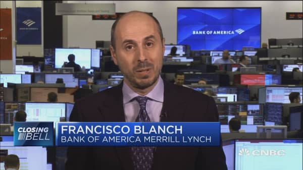 Iran will have more trouble selling its barrels in the market starting in May, says Francisco Blanch