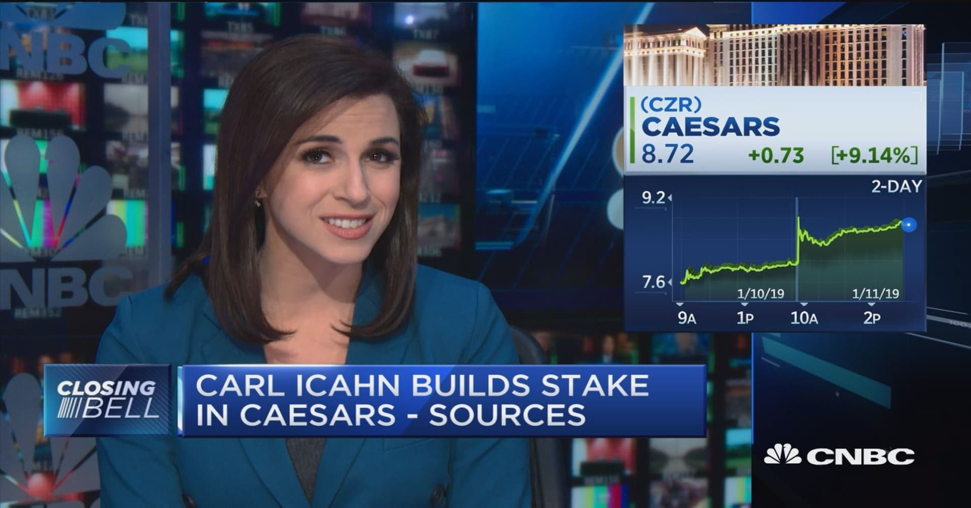 Caesars Entertainment stock soars after Carl Icahn builds stake