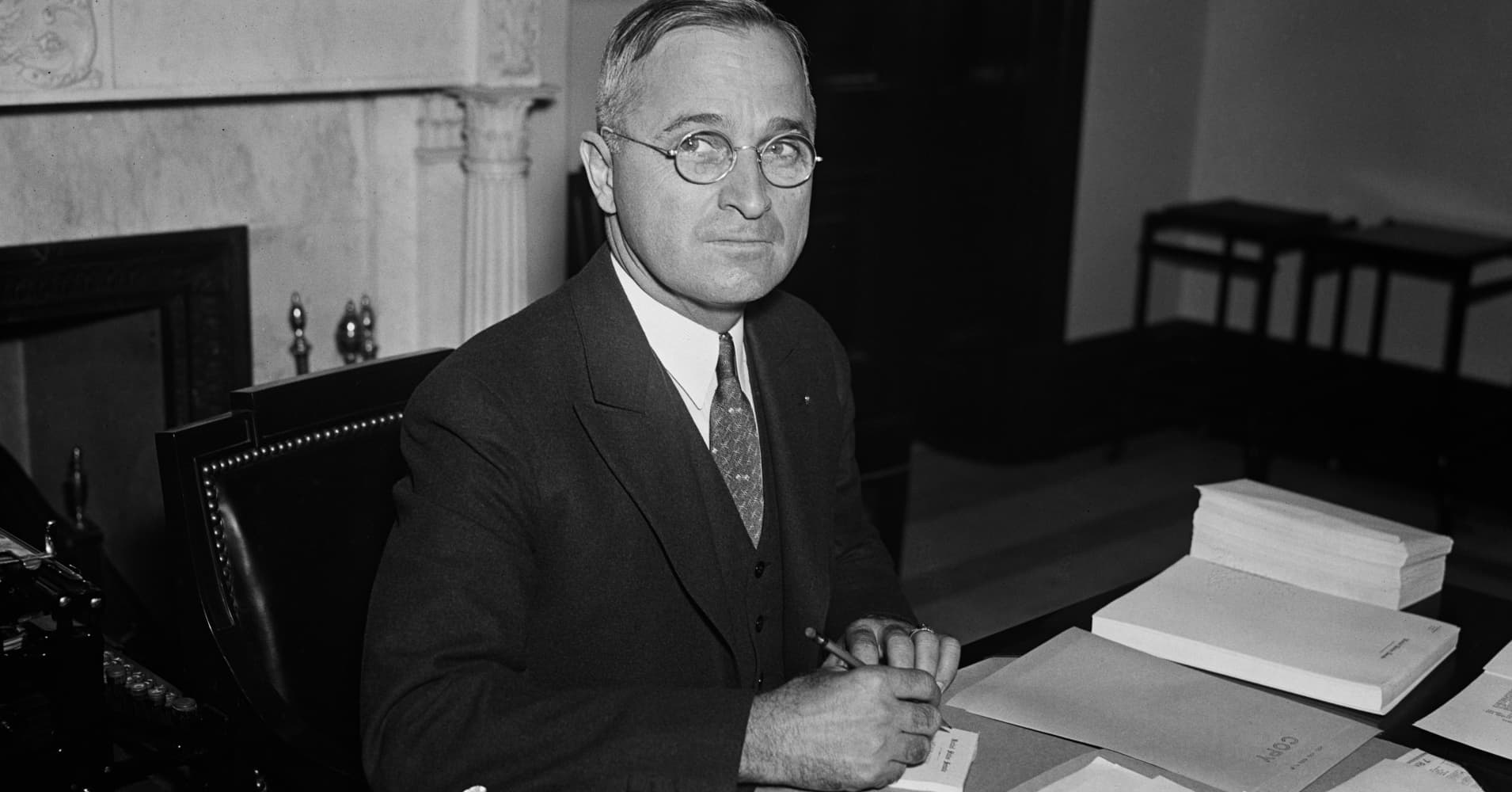 Harry S. Truman, the 33rd president of the United States, was also the last president to wear glasses in public.
