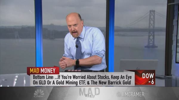 Cramer says if you're worried about stocks, invest in gold