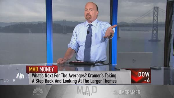 If you're worried about stocks, invest in gold here, Jim Cramer says