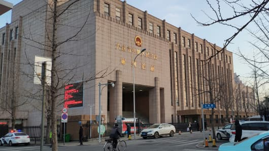 A general view of the Intermediate People's Court of Dalian, where the trial for Robert Lloyd Schellenberg, a Canadian citizen on drug smuggling charges, will be held, in Liaoning province, China January 14, 2019.