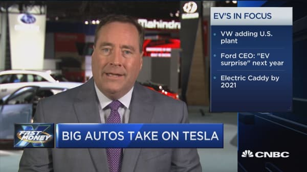 Tesla competition heats up as big autos roll out electric car plans