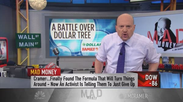 Investors getting 'win-win' trade in Dollar Tree battle: Cramer