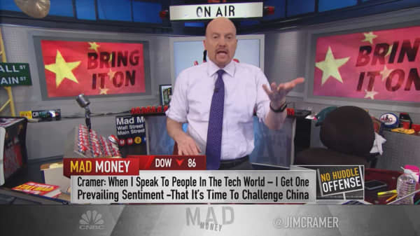 Behind closed doors, tech execs tell Cramer they support hardline China policy