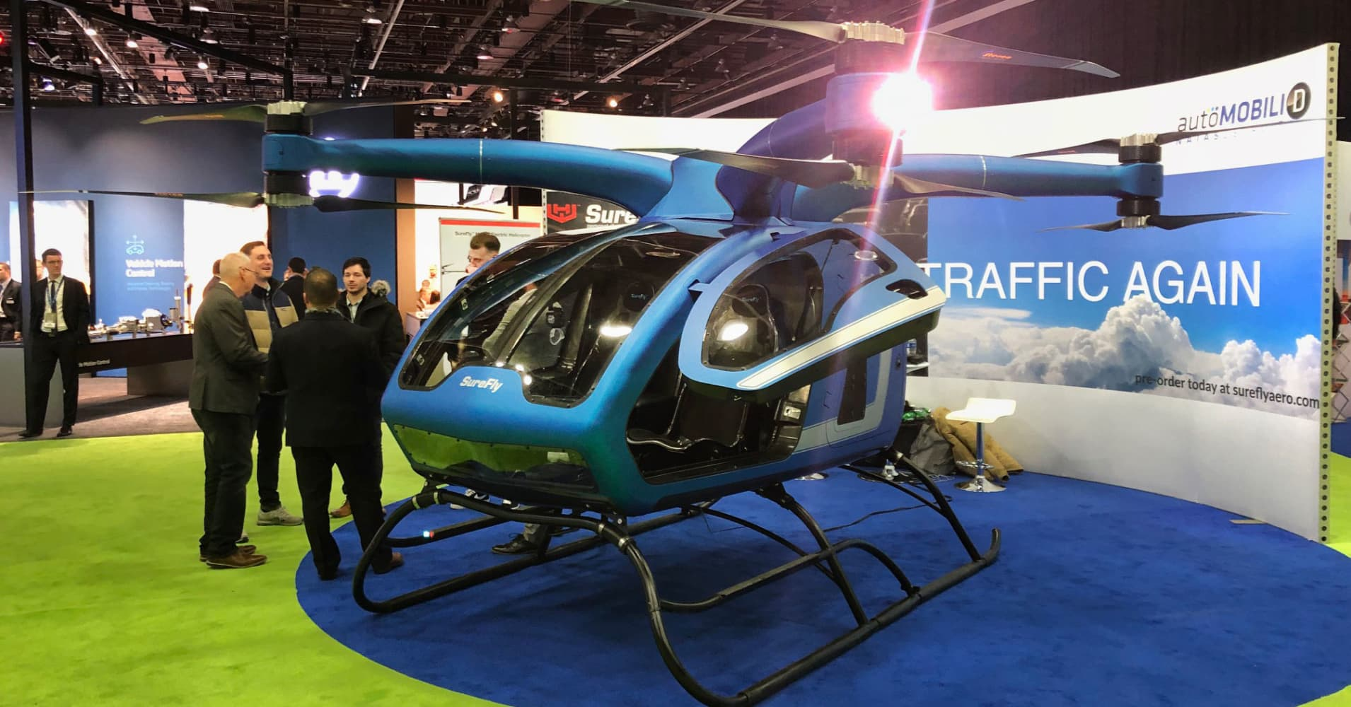 Columbus Auto Show >> SureFly Octocopter pitched in Detroit as the drone anyone can fly