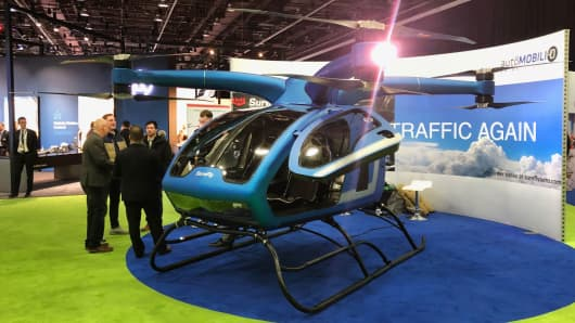 SureFly Octocopter shown at the North American International Auto Show in Detroit, January 15, 2019.