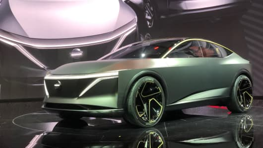 The Nissan Ims Electric Sports Sedan At 2019 North American International Auto Show In Detroit