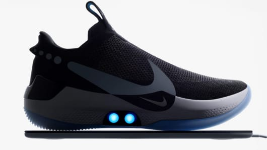0abd4dfdaf13 You can lace Nike s Adapt BB shoes with a smartphone app