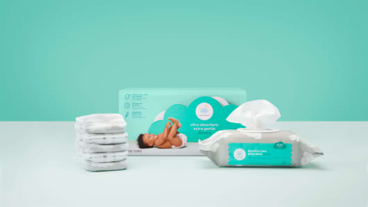 Diapers and wipes from Target's Cloud Island brand.