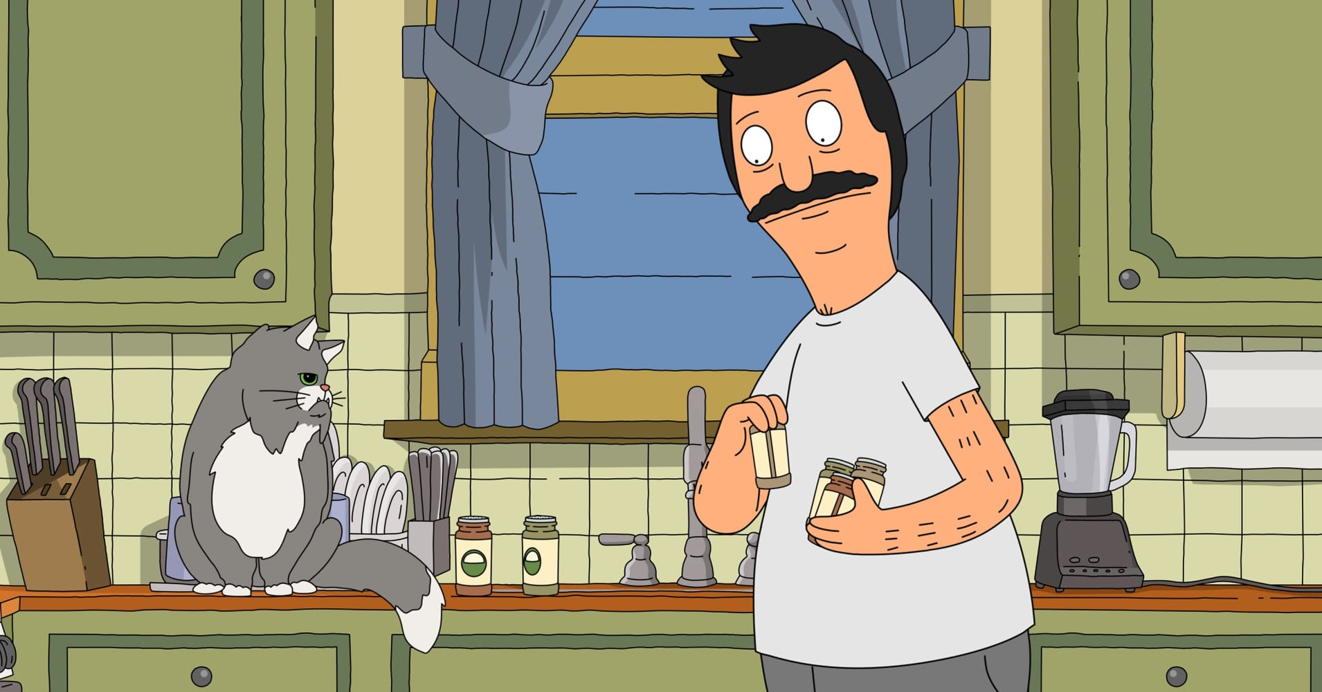 "Gayle's cat, Mr. Business, in FOX's ""Bobs Burgers."" Victoria Amith, Troy Good's daughter, named her cats Tina and Louise after characters in the show."