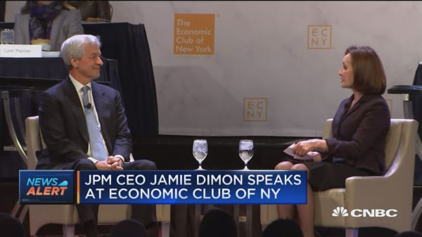 JPM CEO Jamie Dimon says shutdown is negative for sentiment