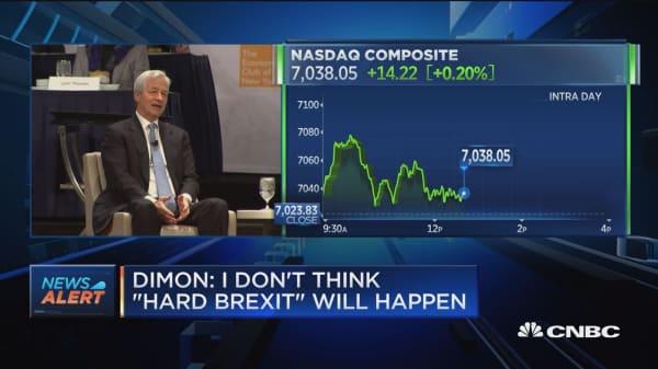 JP Morgan CEO says hard Brexit would be disaster