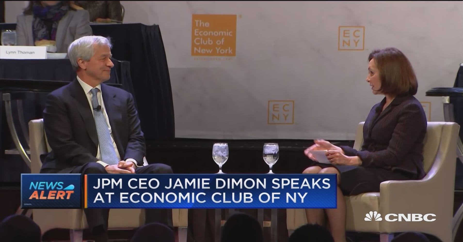 Watch JP Morgan CEO Jamie Dimon speak on the shutdown, Brexit and  U S -China trade