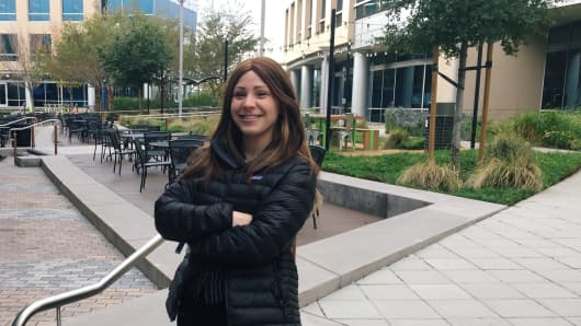 Northeastern University student Madeline Wolf, an intern at ServiceNow in Santa Clara, California, says her hourly wage is more competitive than almost every internship and co-op in Boston and New York.