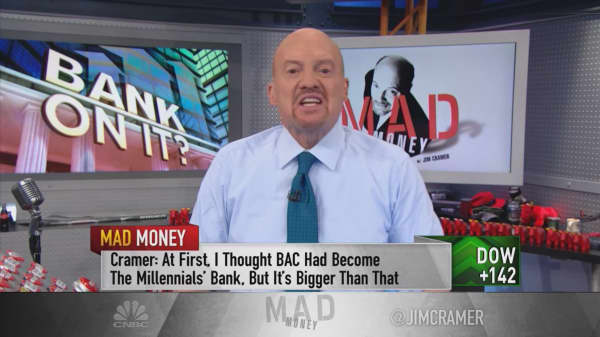 The bank stocks are leading stocks out of their rut, and it's not too late to buy: Cramer