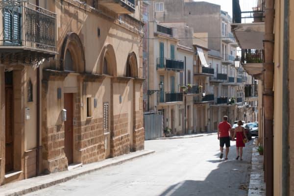 A view of the village of Sambuca di Sicilia, Italy.