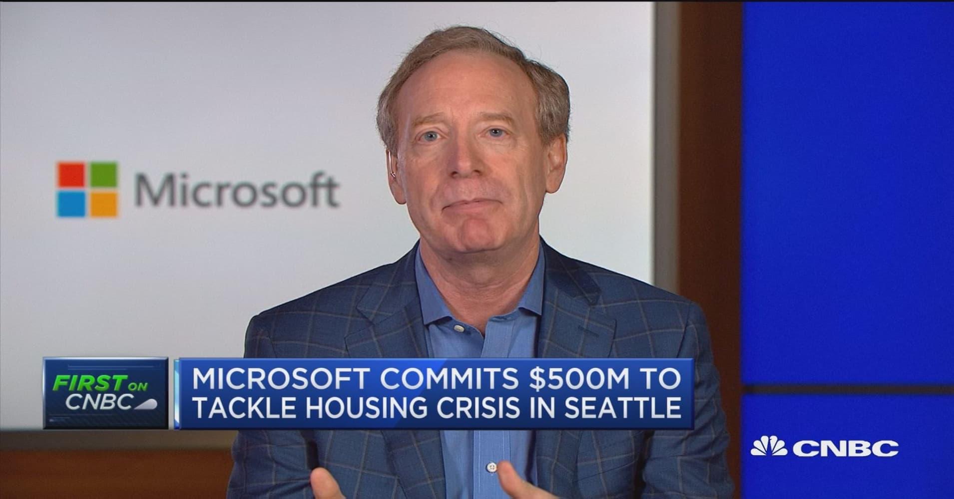 Housing pledge driven by responsibility, gratitude, says Microsoft president