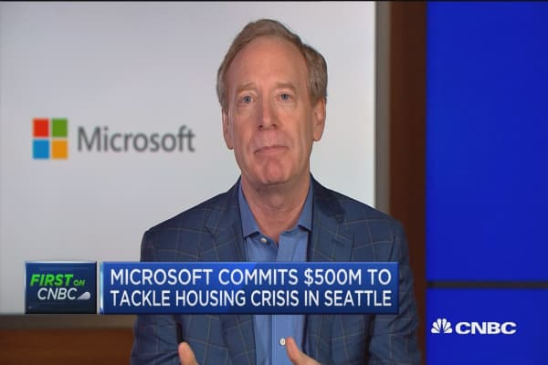 Housing pledge driven by responsibility, gratitude, says Microsoft president