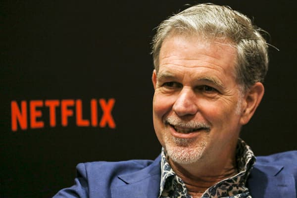 Netflix CEO Reed Hastings speaks during an interview on day two of the Netflix See What's Next: Asia event at the Marina Bay Sands on November 9, 2018 in Singapore.