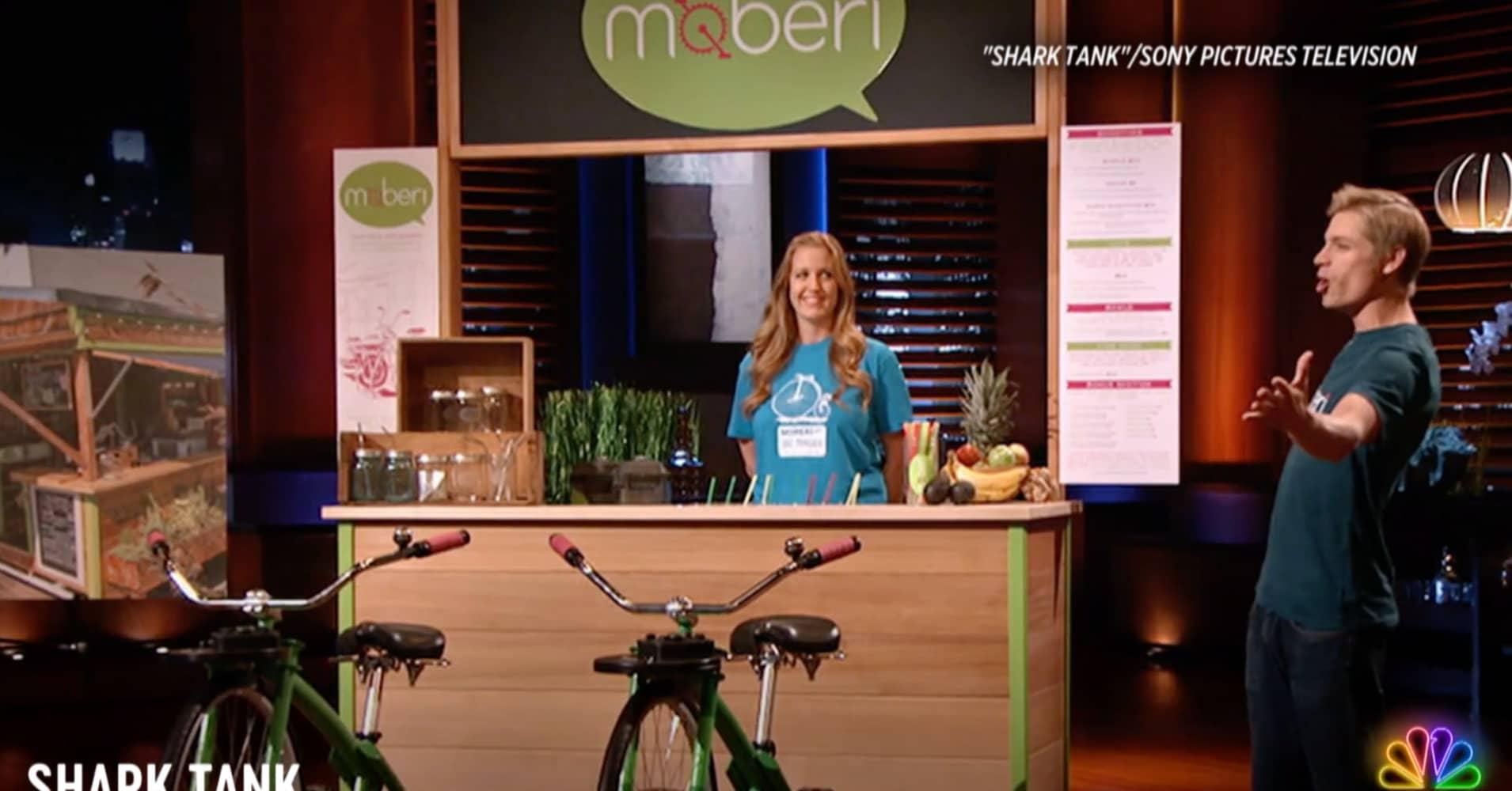 A 'Shark Tank' entrepreneur pitches his bike-blending smoothie bar