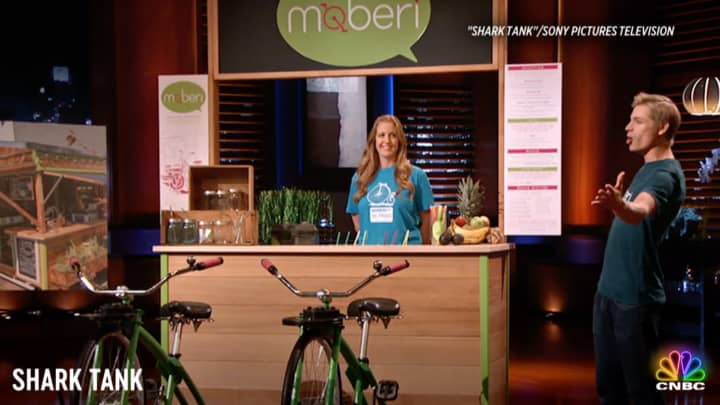 A 'Shark Tank' entrepreneur pitches his bike-blending smoothie bar