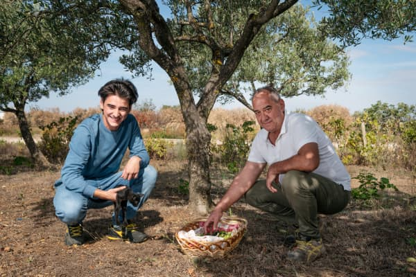 Vincenzo, 21, and his father, Giuseppe, 54, are olive oil producers in Grottole. Vincenzo is a student at the University of Milan, but he returns home often to help with the olive oil business.