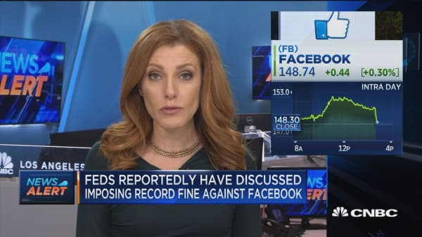 Fed reportedly have discussed imposing record fine against Facebook