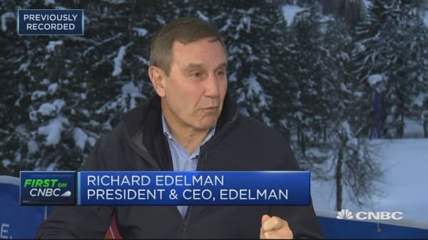 Trust gap between elite and the mass population is larger than ever, Edelman CEO says