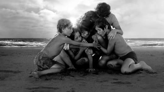 A still from the Netflix film Roma.