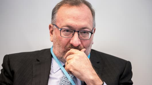 Seth Klarman, chief executive officer of The Baupost Group LLC, listens during an interview in New York, June 8, 2018.