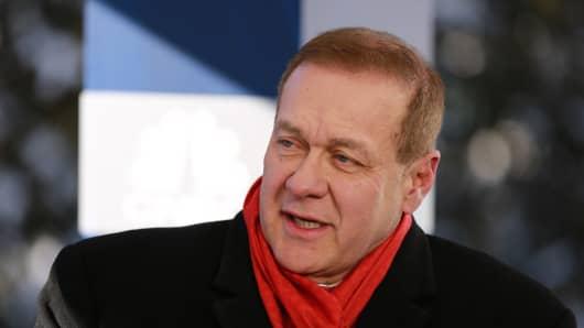 Scott Minerd, founding Managing Partner at Guggenheim, speaking at the 2019 WEF in Davos, Switzerland on Jan. 22, 2019.