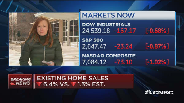 Existing home sales drop sharply, down 6.4 percent