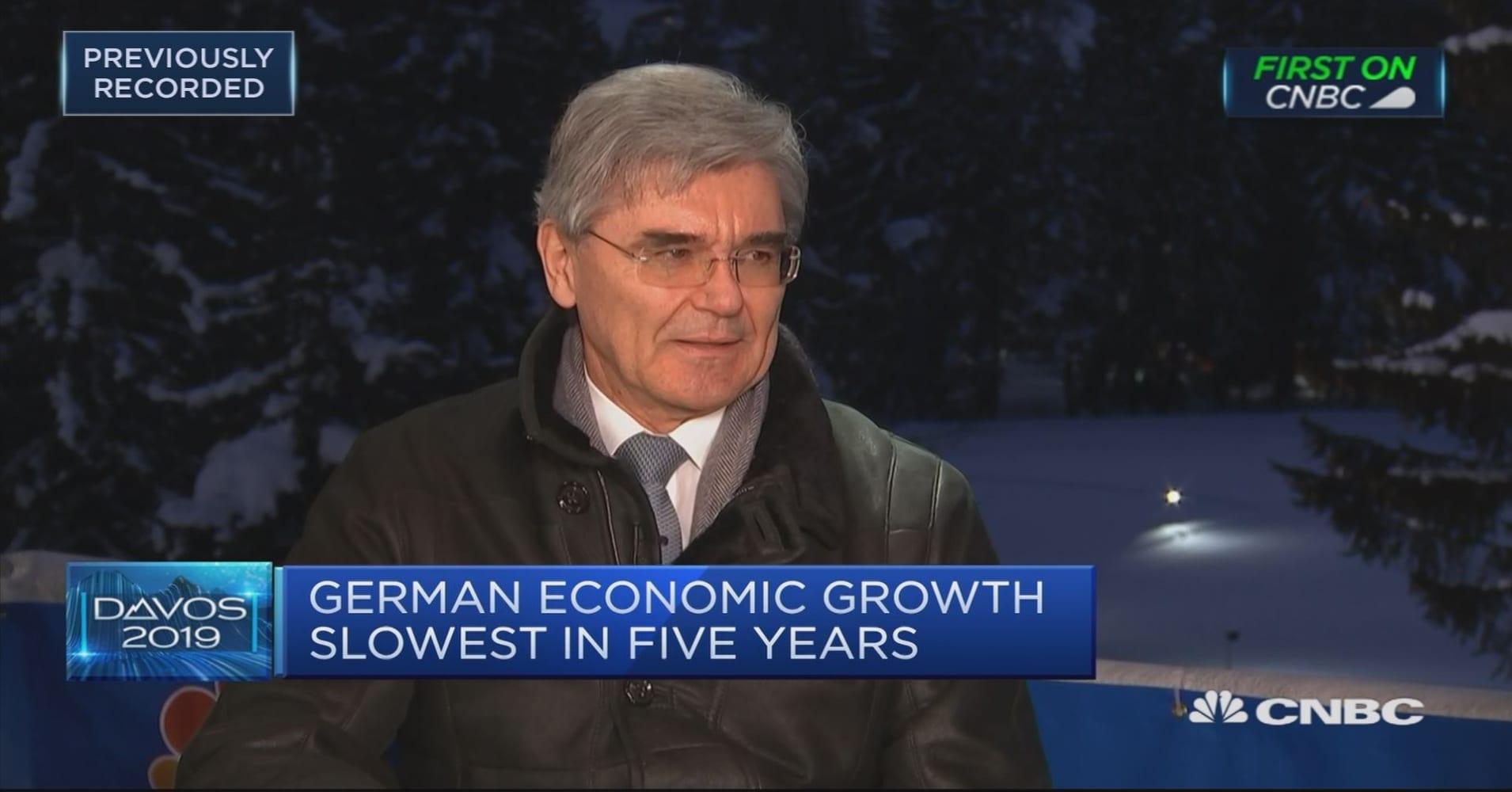 Siemens CEO says he's 'sort of' optimistic that EU regulators will approve Alstom deal
