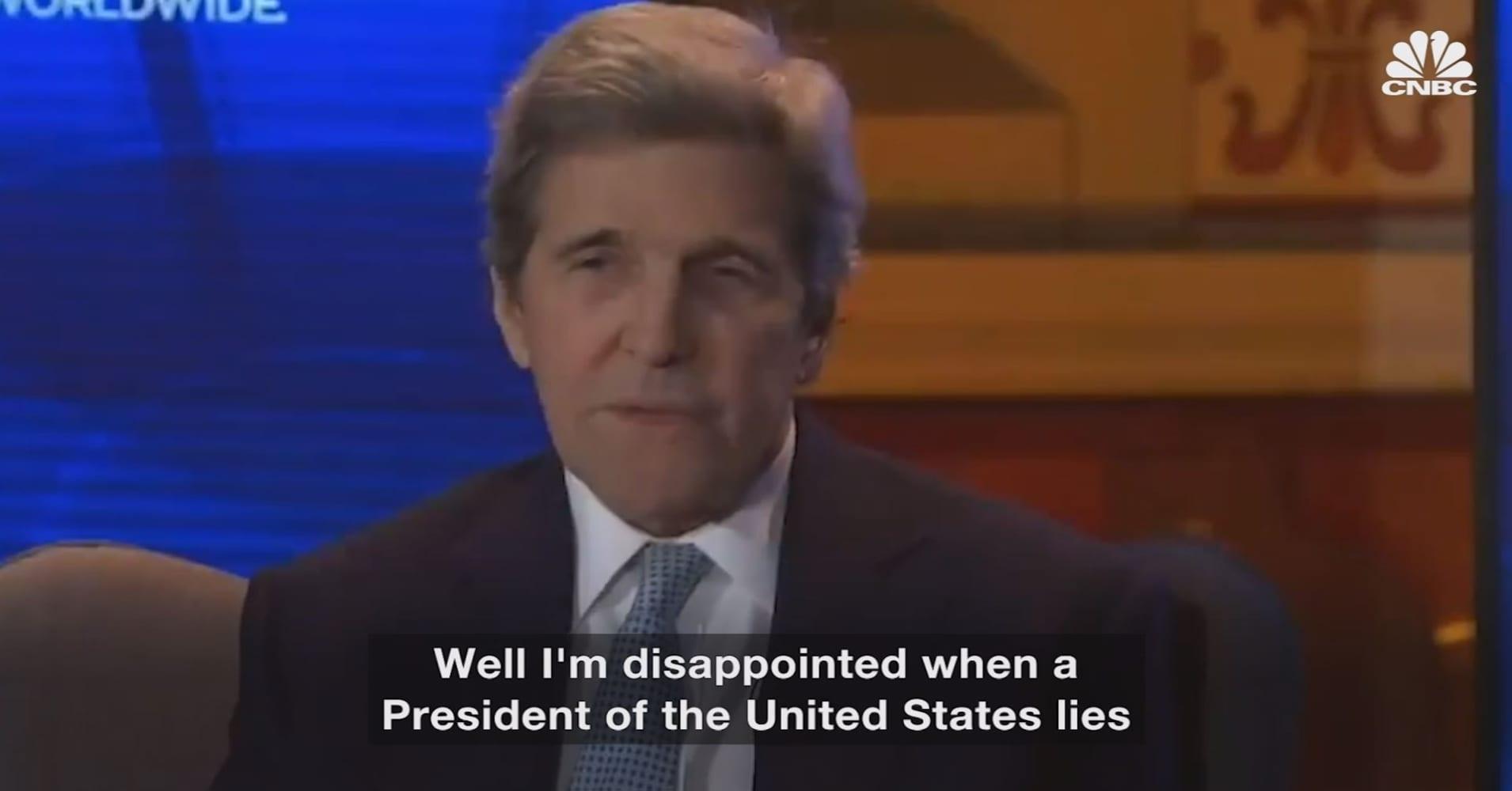 Former Secretary of State John Kerry just said President Trump should resign